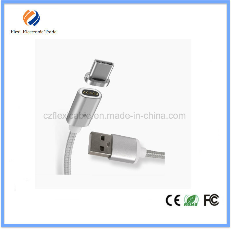 USB Type C Charger Cable Metal Magnetic Charging Cable for Samsung pictures & photos