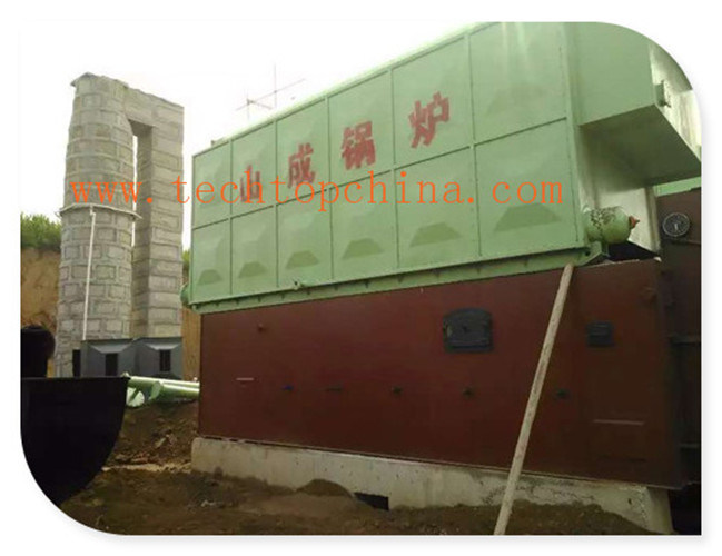 Double Drum Horizontal Chain Grate Coal Fired Steam Boiler pictures & photos