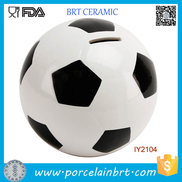 Creative Decoration Funny Football Ceramic Money Box
