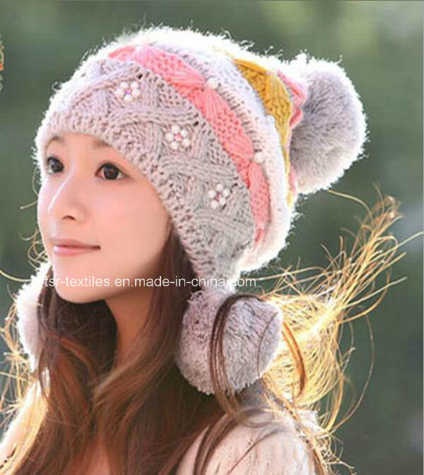 China Ladies Knit Hat with Earflap Pattern for Winter - China Hat ...