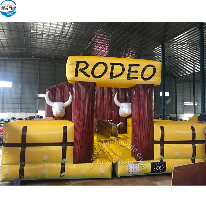 Outdoor Mechanical Inflatable Rodeo Bull / Inflatable Bull Riding Machine / Bullfighting Machine with Mattress pictures & photos