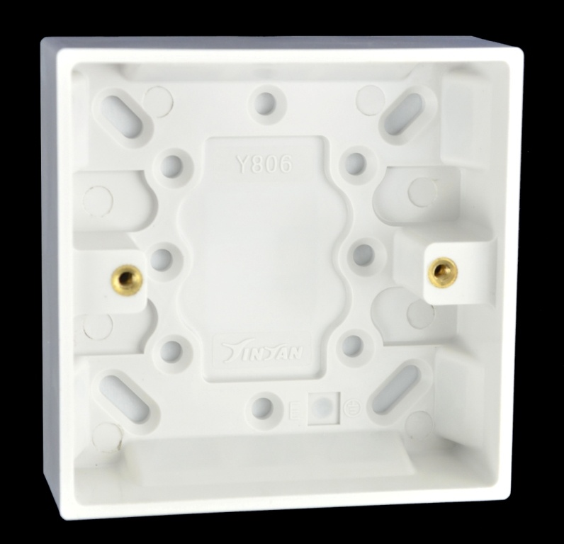 China 16mm Deep Moulded Surface Single Switch Box/Patress - China ...