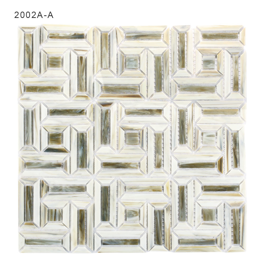 China Bathroom Wall Border Tiles Stained Glass Mosaic with Factory ...