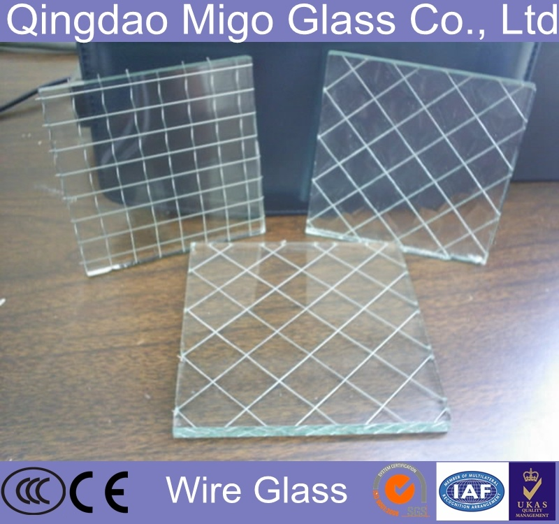 China Safety Clear Wire Glass For Doors And Windows China Wire