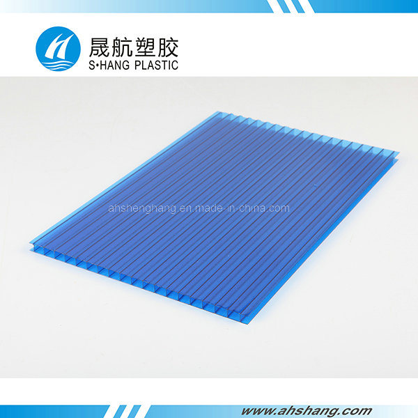 Frosted Twin-Wall Polycarbonate Hollow Roofing Sheet with UV Protection pictures & photos