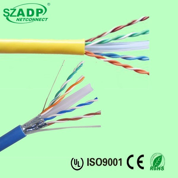 Russia Wholesale Security Camera Networking Ethernet Cable 23AWG 0.56mm 0.57mm 8 Number Solid Copper CAT6 Cable