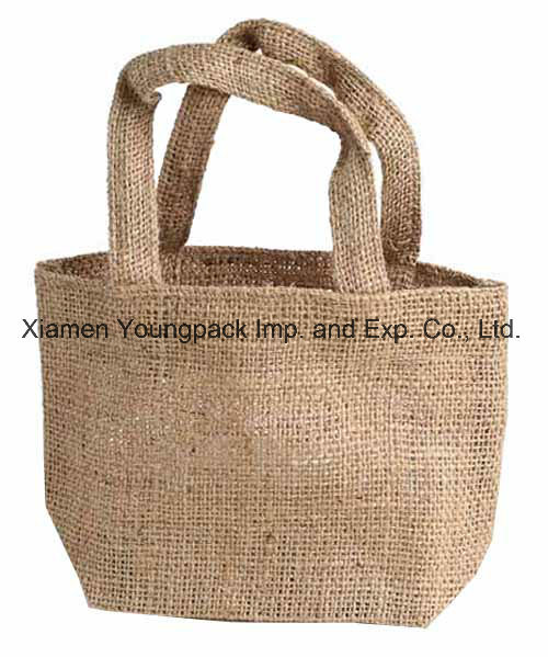 c380d2b16f China Fashion Custom Promotional Natural Two Tone Jute Small Tote ...