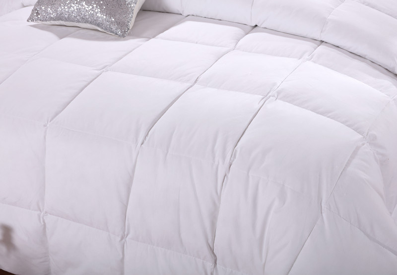 White 350g Siliconized Fiber Down Alternative Duvet pictures & photos