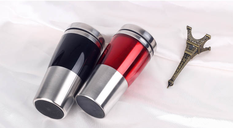 2017 New Promotional Premium Foodgrade Plastic Insulated Travel Vacuum Mug