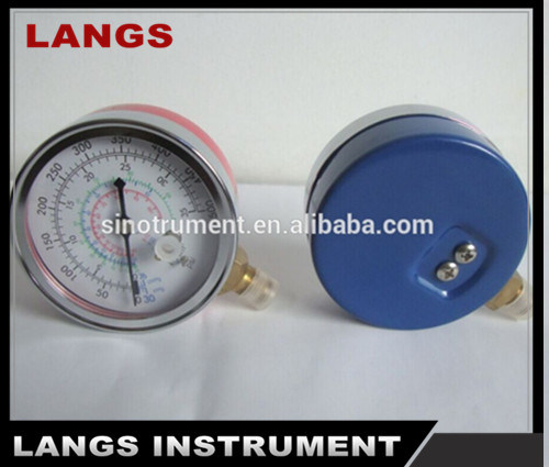 011 Chrome Plated Freon Pressure Gauge & Manometer