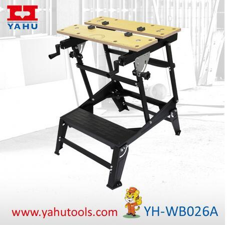China 6 Position Height Adjustable Woodworking Bench With Bench Vise