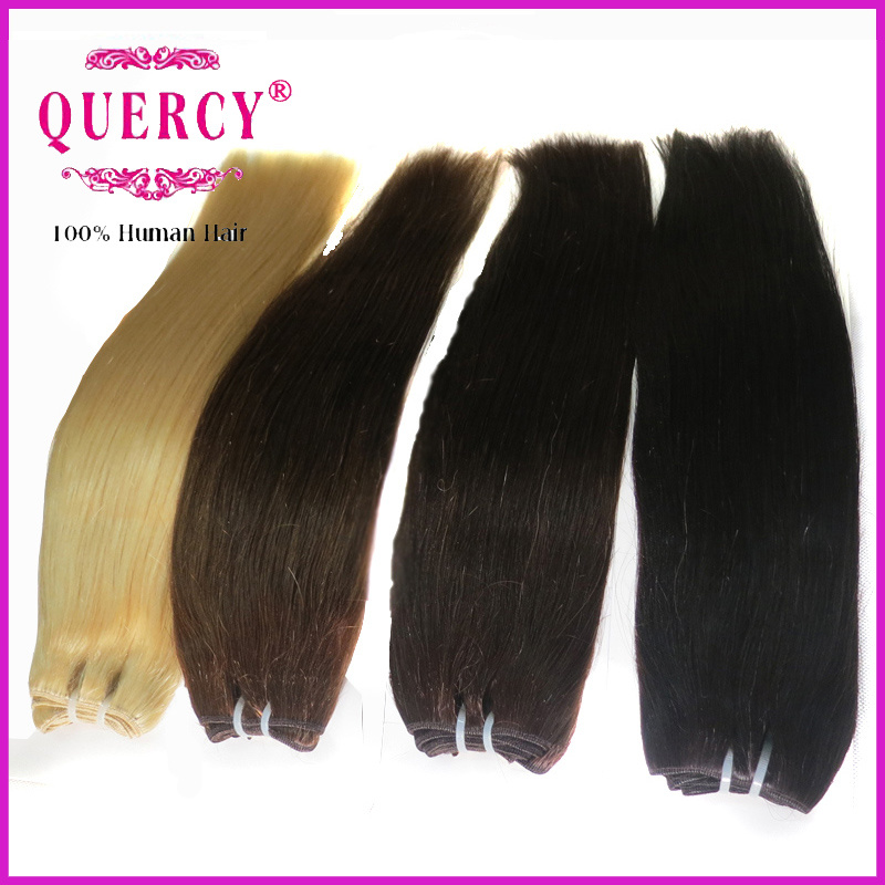 China 100 Human Hair Extensions Blond Color Cheap Hair Weave