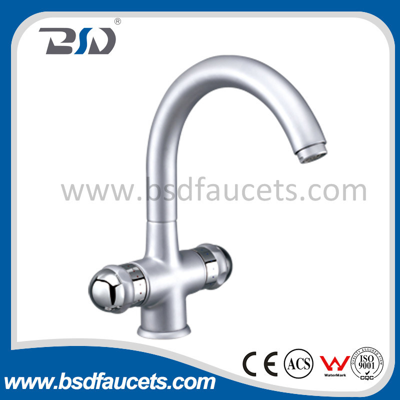 Gooseneck Dual Handle Surface Mounted Sink Faucets pictures & photos