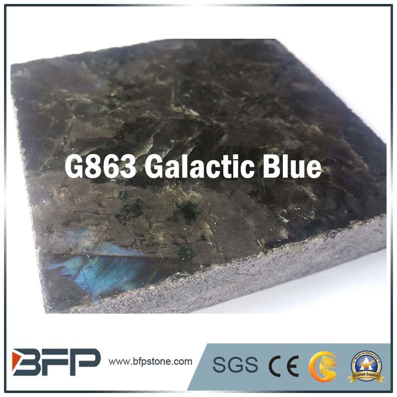 China Blue Granite Material Polished Flooring Tileslabs For Floor