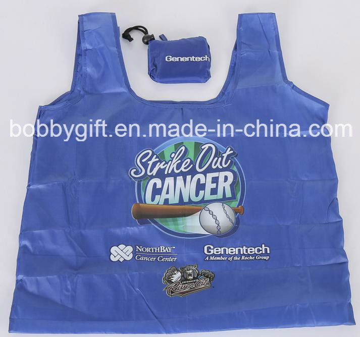 Wholesale Custom Printed Folding Polyester Shopping Bag