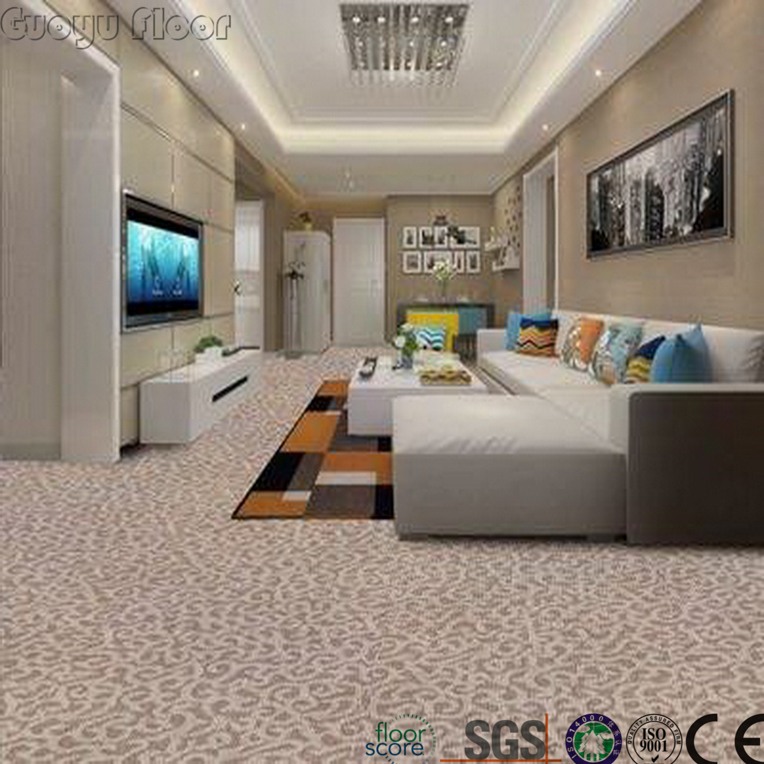 China 2018 new style sound absorption click vinyl flooring for modern house china vinyl floor plastic floor