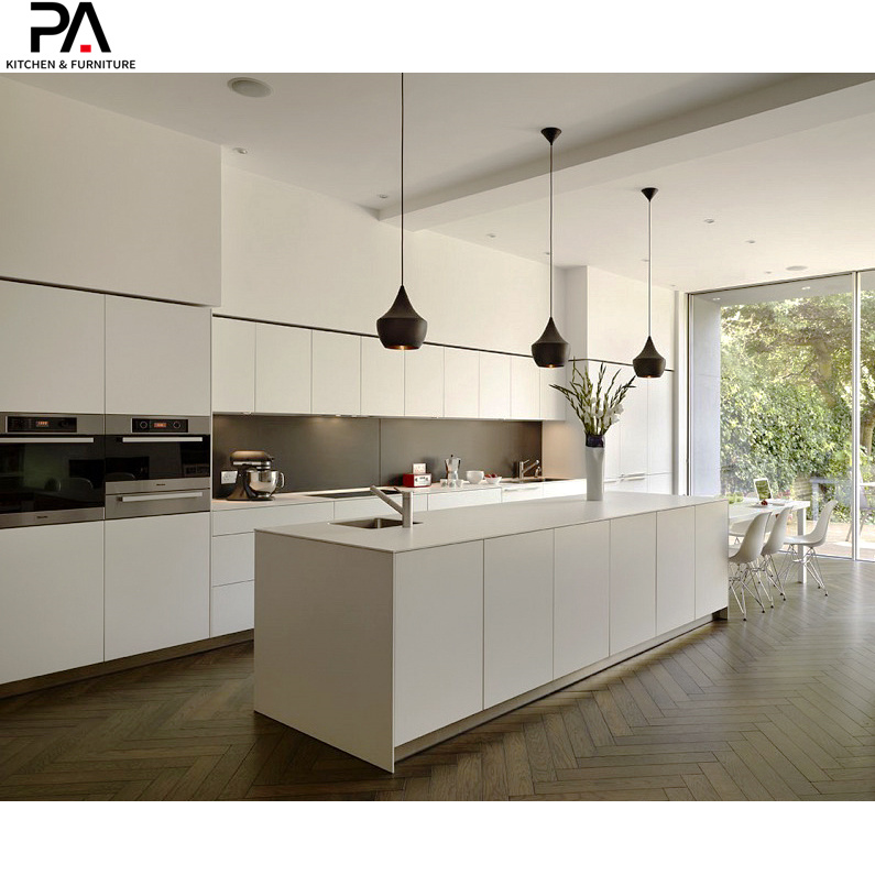 China Luxury Kitchen Modern White High Gloss Lacquer Kitchen Cupboards Photos Pictures Made In China Com