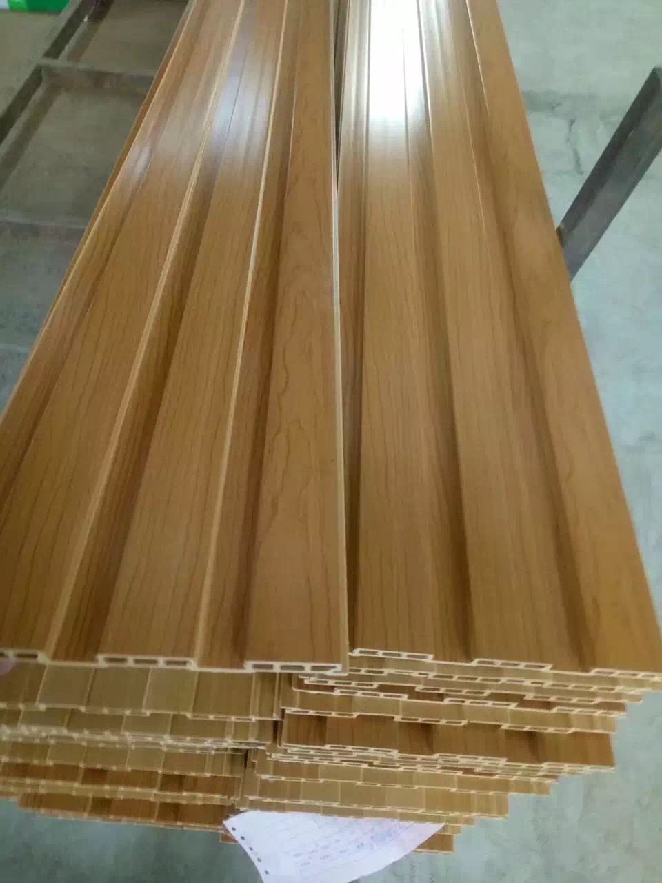 Image of: Chinese Factory Supplies Faux Wood Good Quality Plastic High Gloss Blue Sky Pvc Ceiling Panels China Pvc Ceiling Panel Pvc Wall Panels