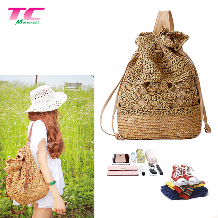 b759a31d0 China Morecredit Stylish Handmade Bali Lace Backpack Handbags for Pretty  Lady Wholesale Straw Backpack Directly Supplier - China Straw Backpack, ...