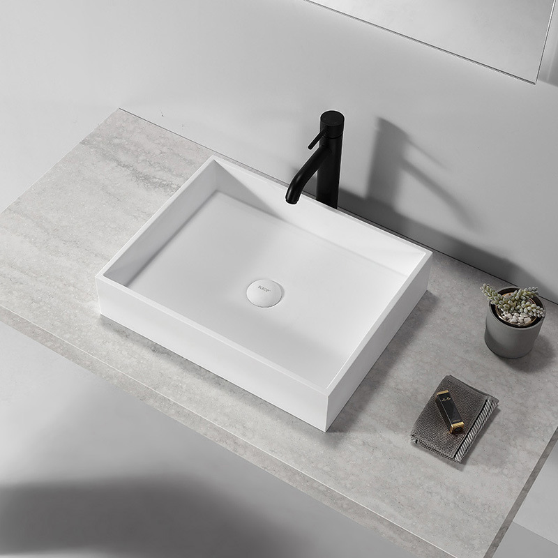 China Corian Solid Surface Stone Vessel Bathroom Sinks For Hotel China Bathroom Sinks Vessel Sinks