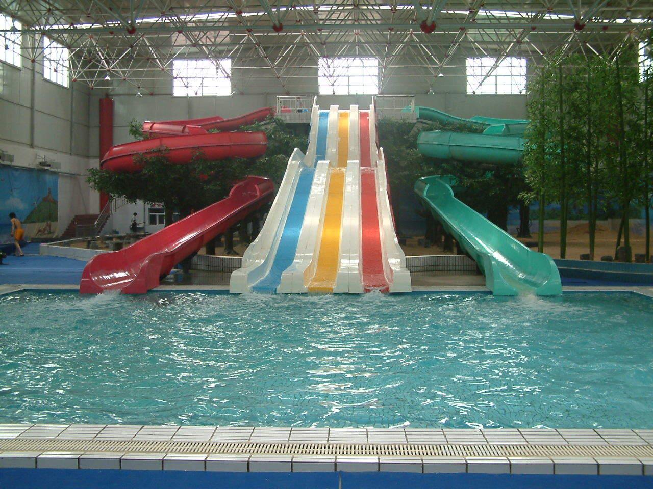 China Indoor Water Slide Combination