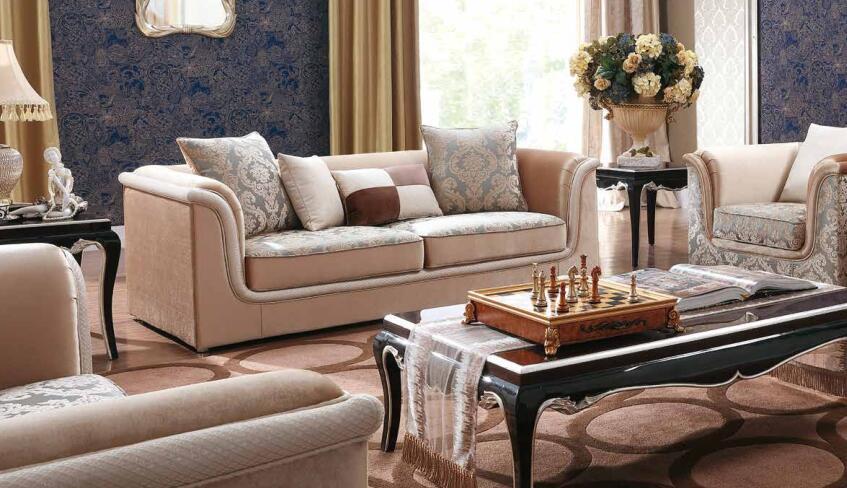 [Hot Item] Classical Living Room Furniture Fabric Sofa