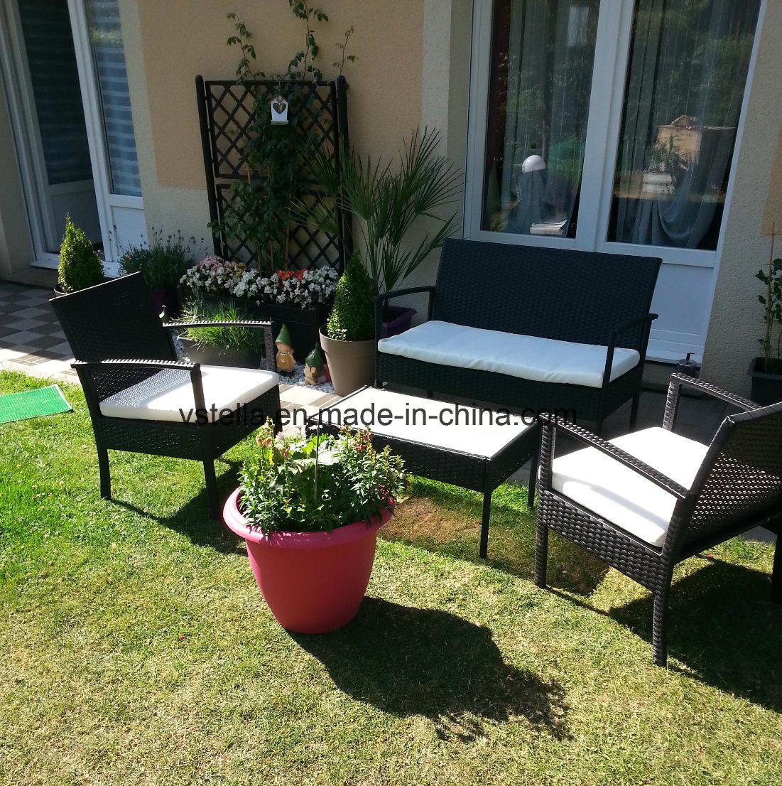 [Hot Item] All Weather Steel Kd Outdoor Garden Sofa Set