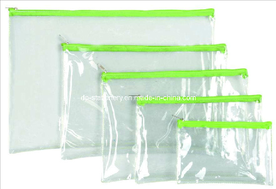 PVC Plastic Stationery Bag/Document Bag (V7102)