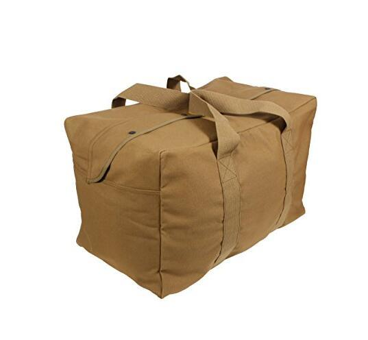 eac038b09217 China Wholesale Canvas Cotton Large Army Military Duffle Bag - China ...