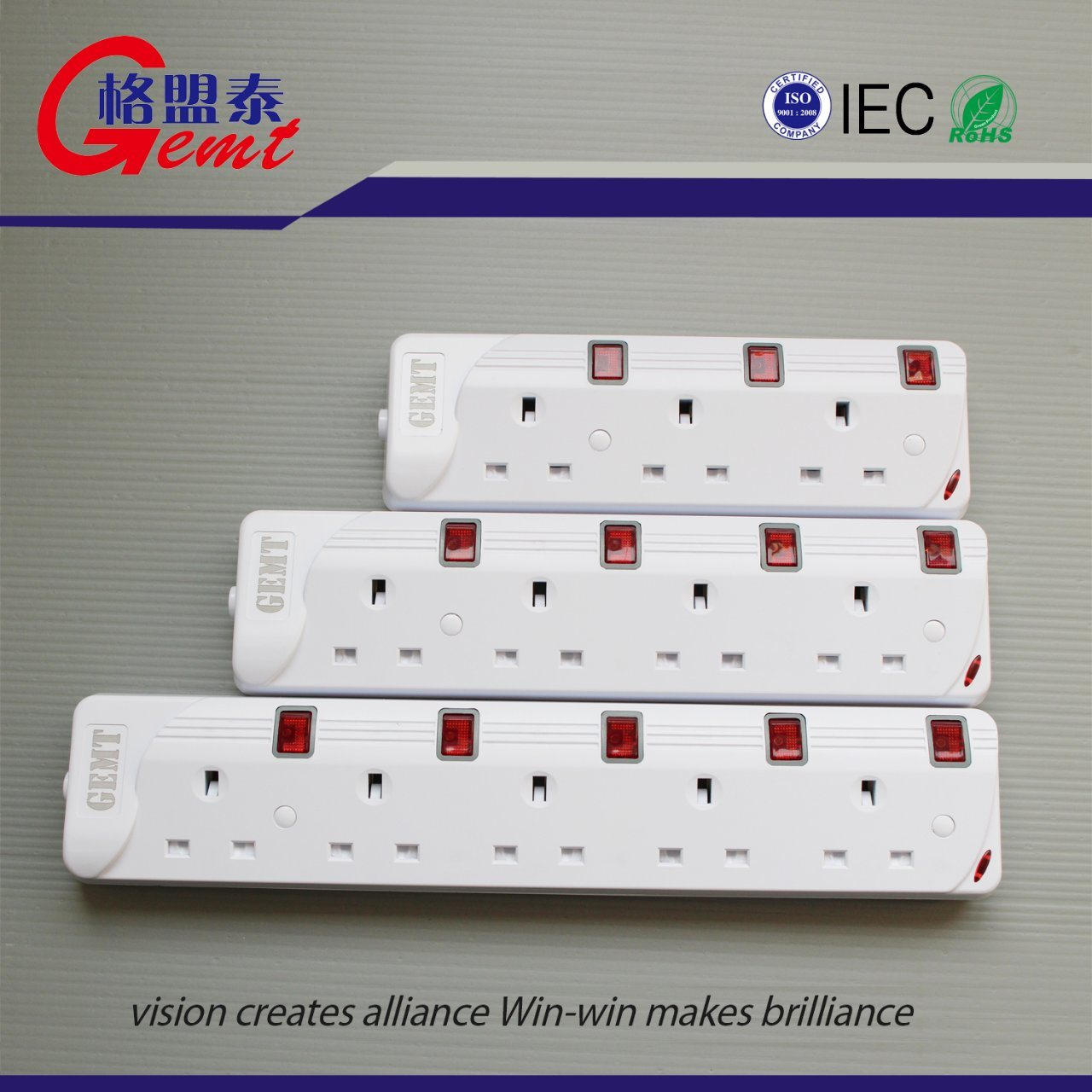 China Hot Sale 345 Way Electronic Plug Power Strips 4 Switch For Supply Strip