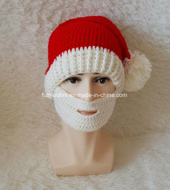 China Adult Hand Knitting Santa Hat Christmas Hat Photos Pictures