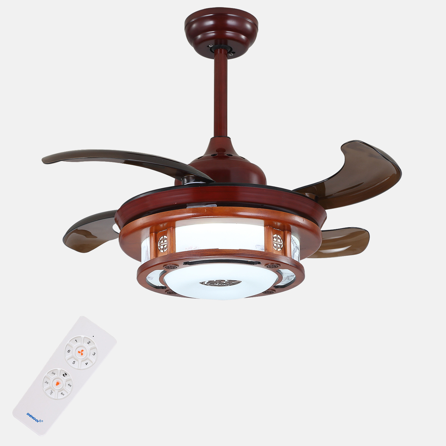 China traditional style ceiling fan with light with hidden blades china ceiling fan ceiling fan with light