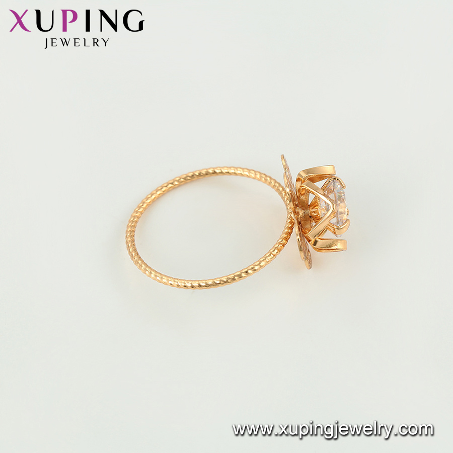 15513 Newest Fashion Diamond Flower-Shaped Gold Jewelry Finger Ring for Ladies or Girls pictures & photos