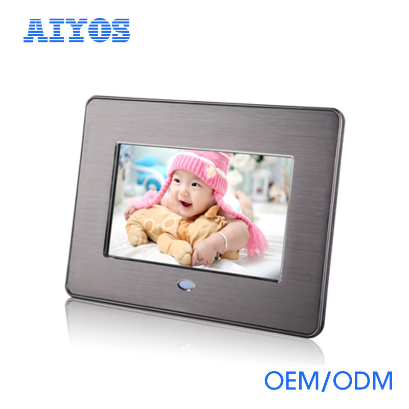 China Best Price 7 Inch Digital Photo Frame With Front Metal Frame