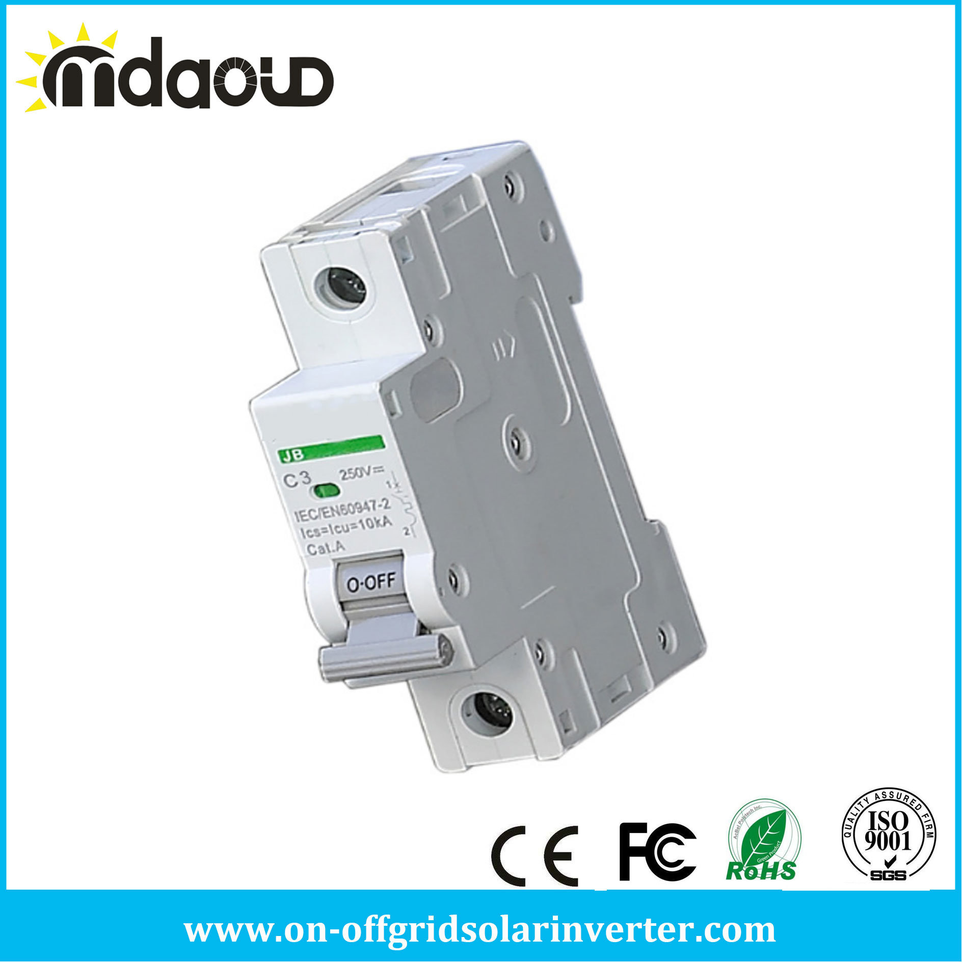 China 1p DC DIN Rail Circuit Breaker Non Polarized DC Breaker Switch ...
