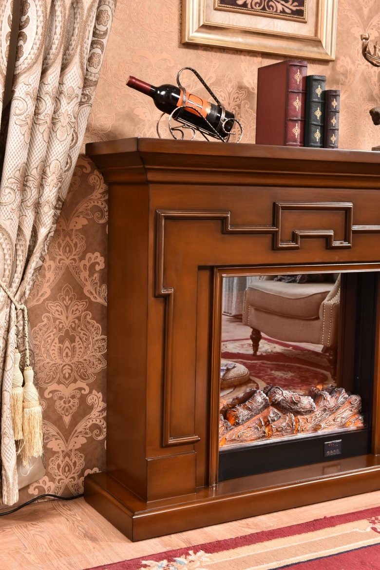 China Brown Dimplex Wall Mounted Electric Fireplace With Fan