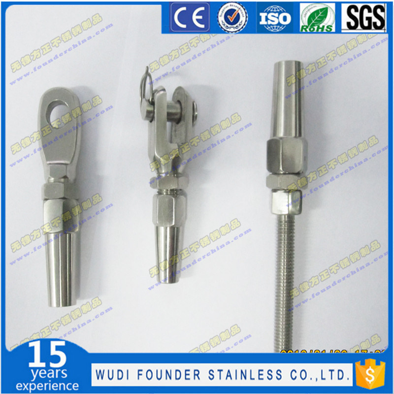 China Stainless Steel Swageless Wire Rope Terminal - China Terminal ...