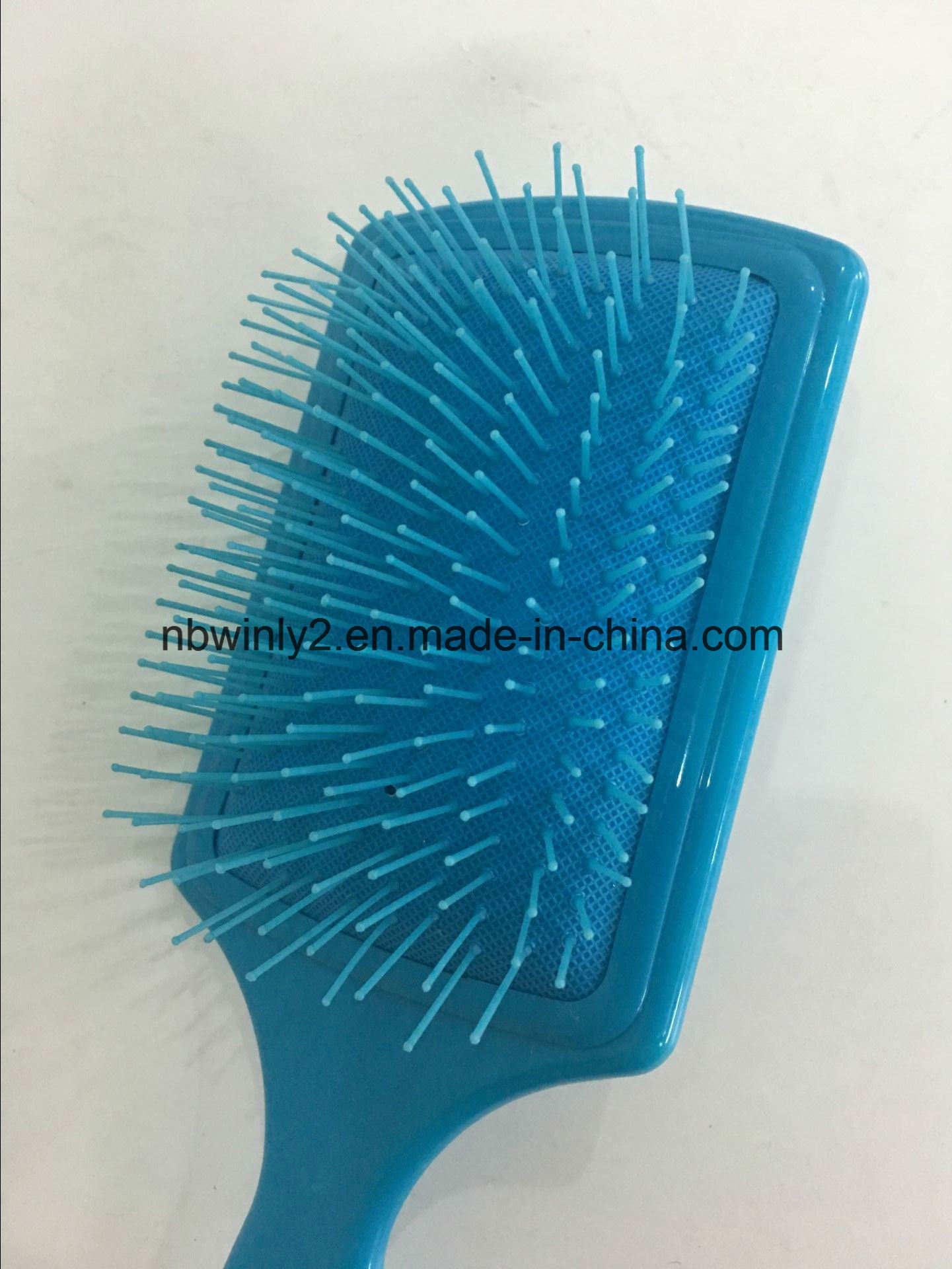 Flat Plastic Hairbrush pictures & photos