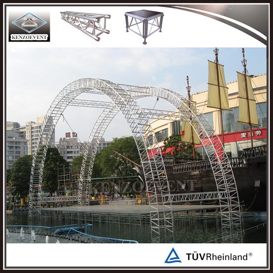 China Aluminum Semi Circle Truss Curved Roof Truss Round Truss