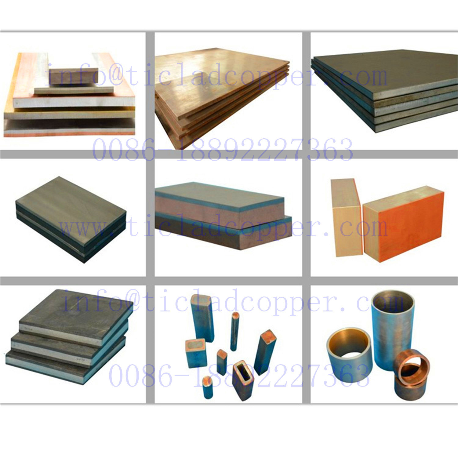 Explosion Bonding Copper Clad Aluminum Sheets for Petrochemical Industry pictures & photos