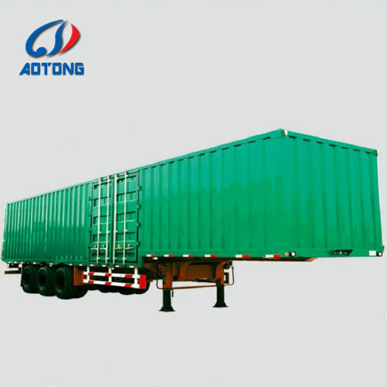 abc48b6a9d 3 Axles Van Truck Trailer Enclosed Cargo Semi Tractor Trailer Box Trailer