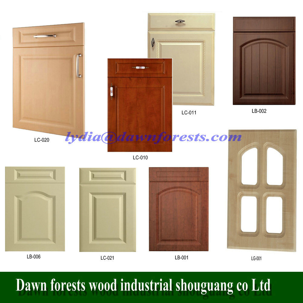 China Kitchen Furniture Parts 18mm Pvc Vacuum Mdf Kitchen Cabinet