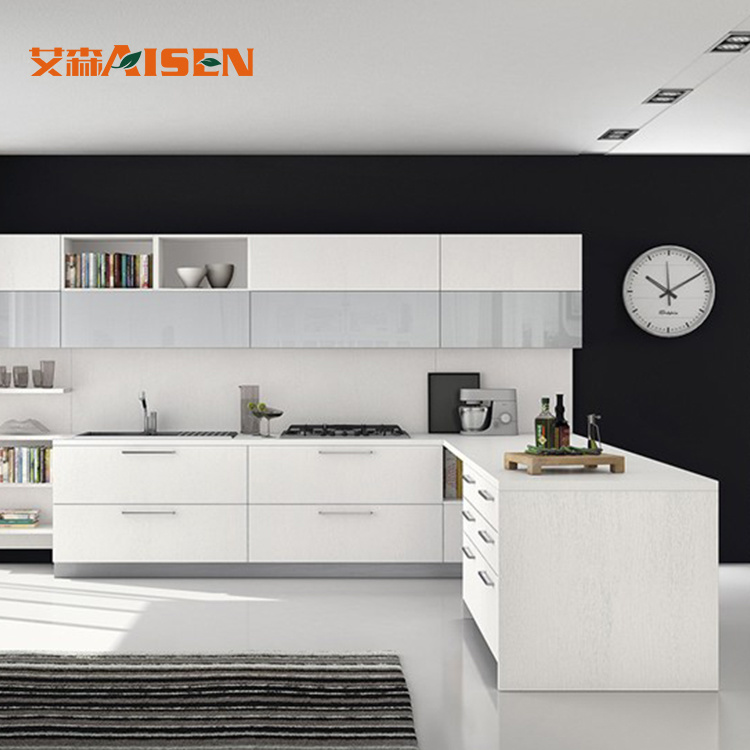China Modern Design High Gloss Or Matte White Lacquer Kitchen Cabinet China Modern Kitchen Cabinet Kitchen Cabinet