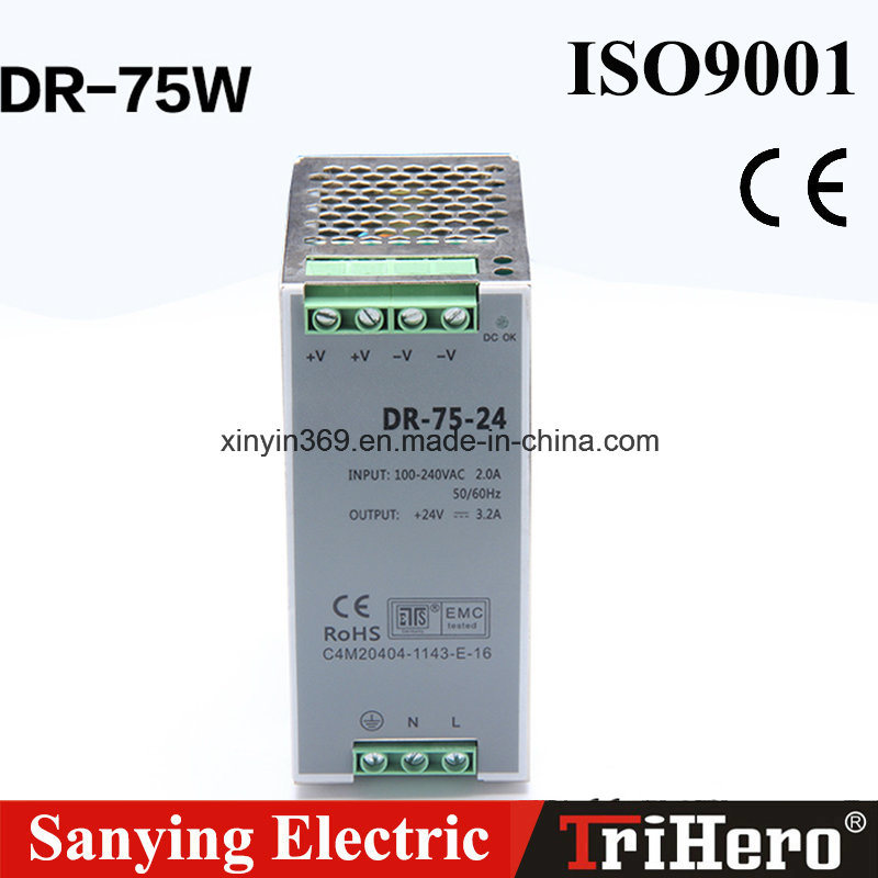 75W DIN Rail Series Switching Power Supply (SMPS) pictures & photos