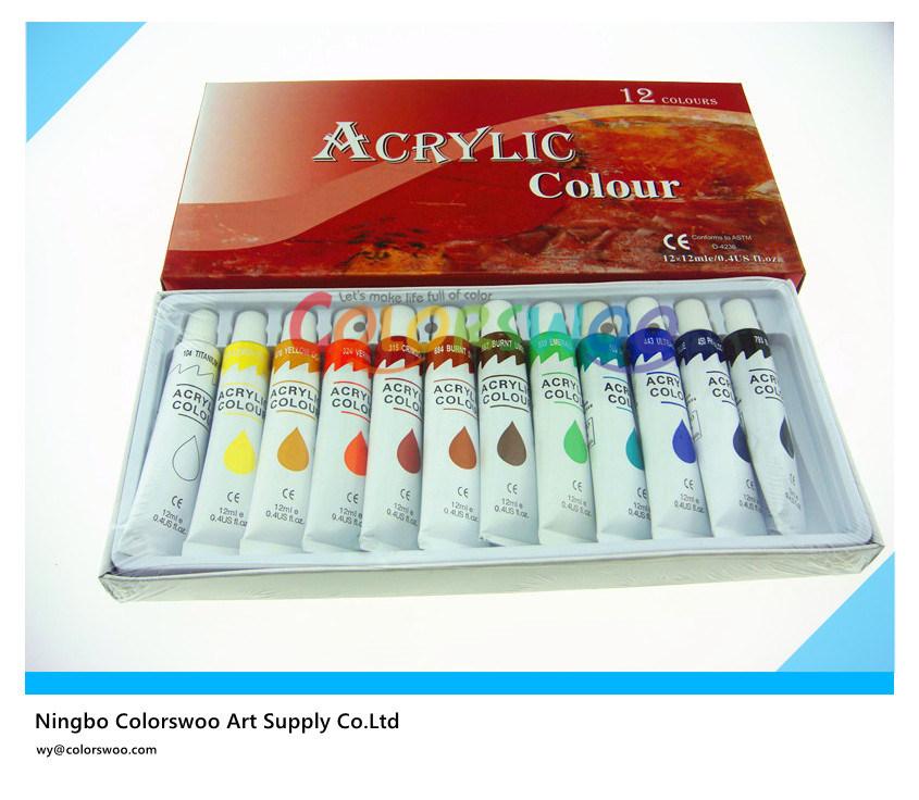 Is Acrylic Paint Toxic >> China 12 12ml Colors Non Toxic Acrylic Paint In Aluminium Tube For