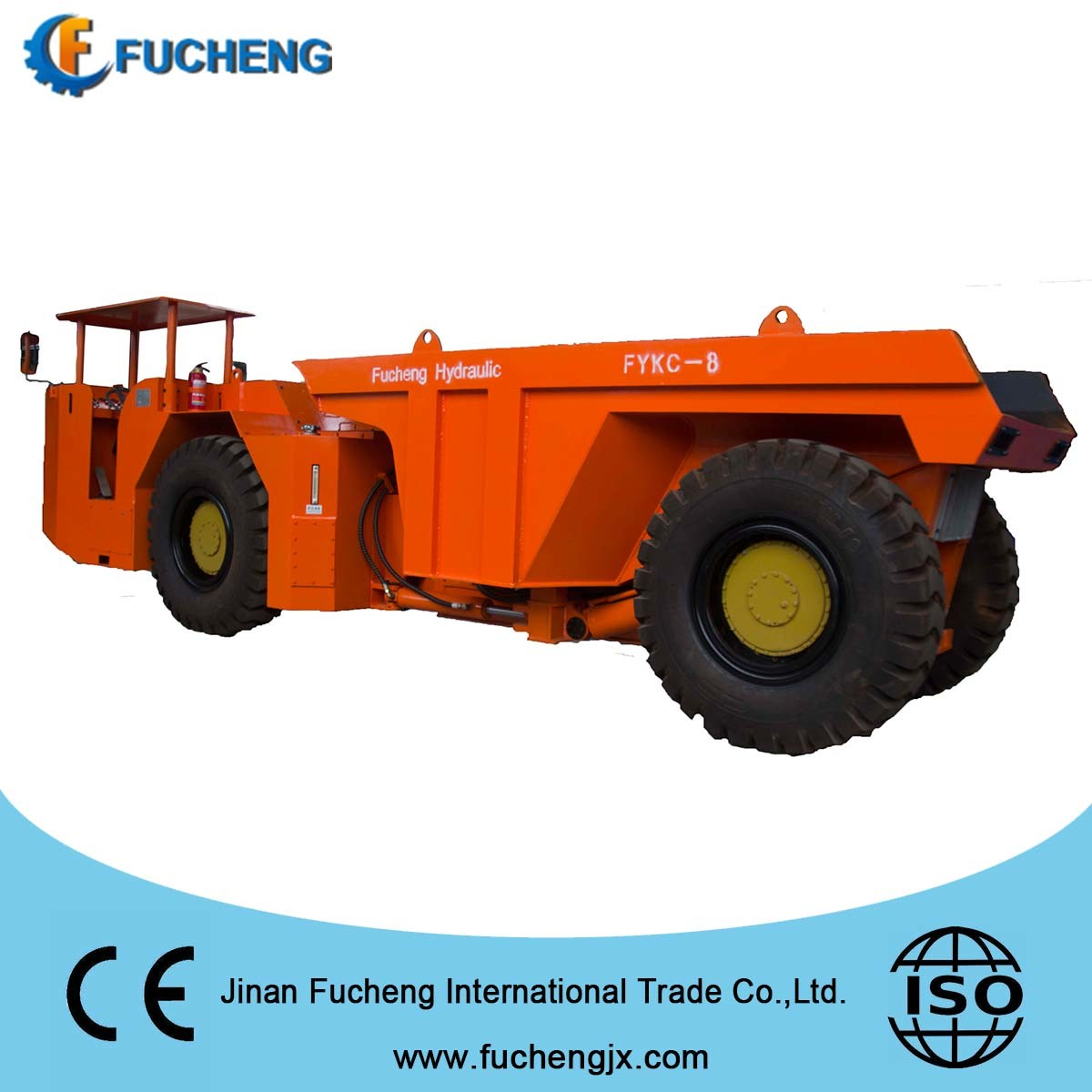 China 4m3 4 Wheel Drive mini underground mining truck for