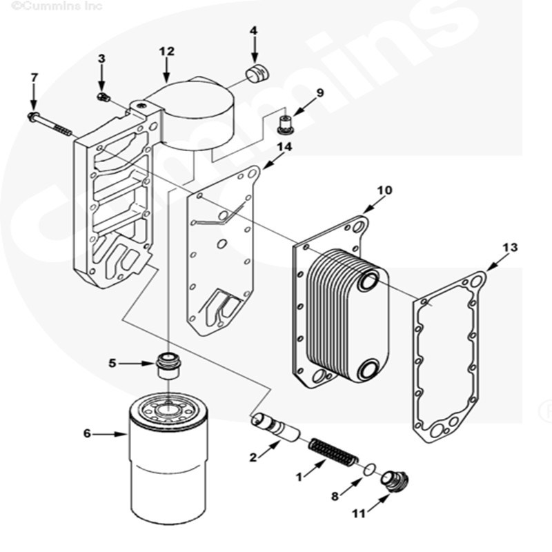 China Cummins 6ct Engine Oil Cooler Core 3974815 3918175 3918174