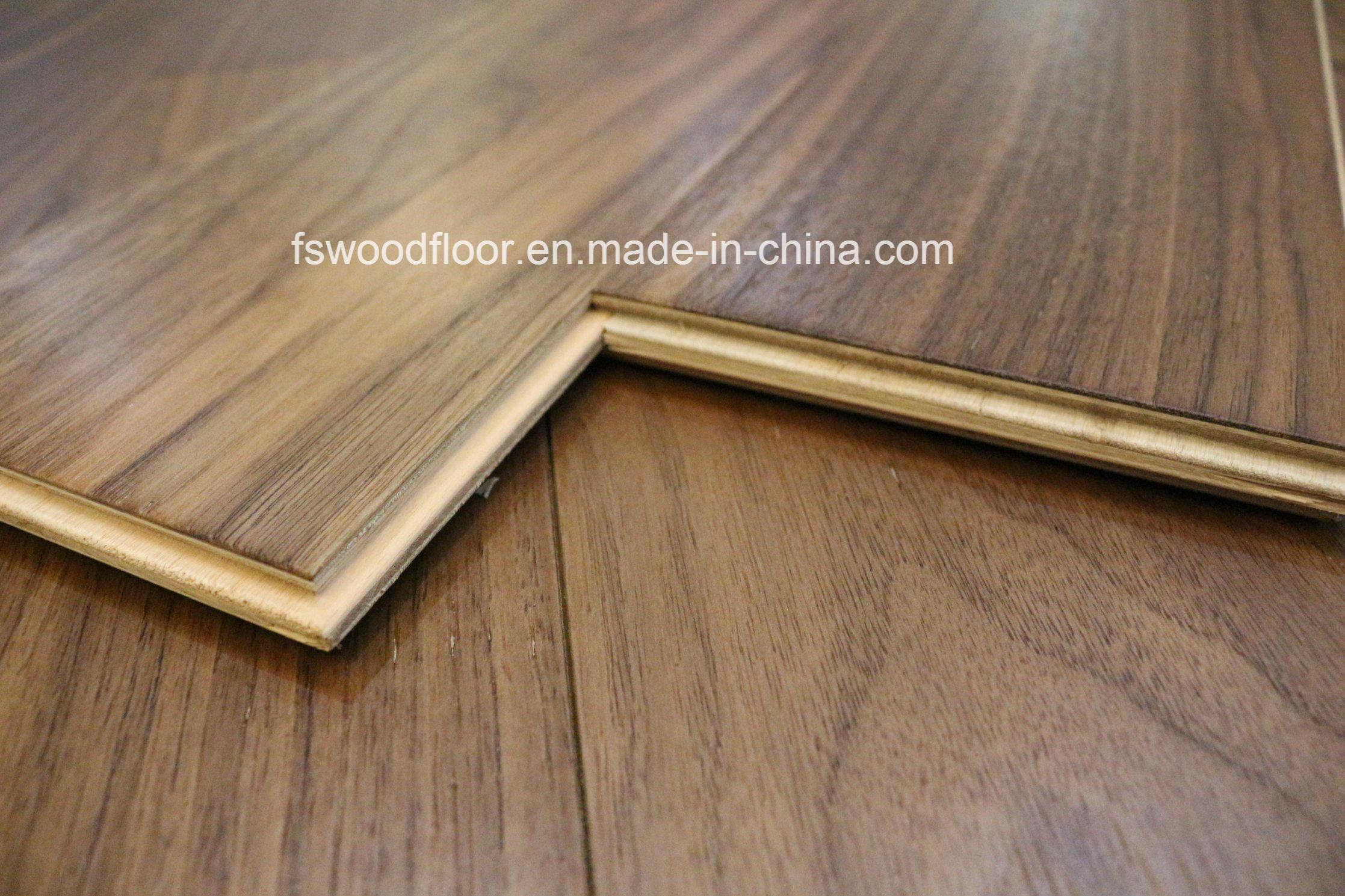 China Wax Oiled Natural Black Walnut Engineered Wood Flooring