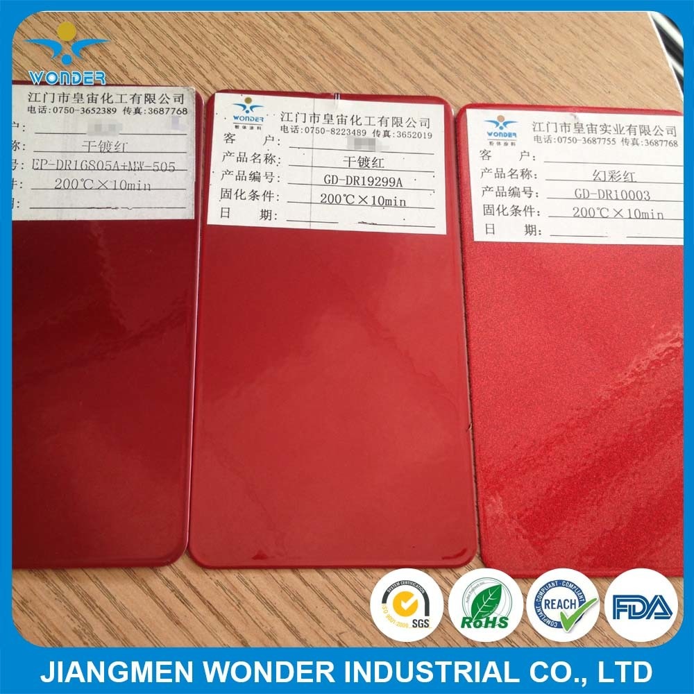 Candy Nanodryplating Chrome Red for Fan Wire Powder Coating