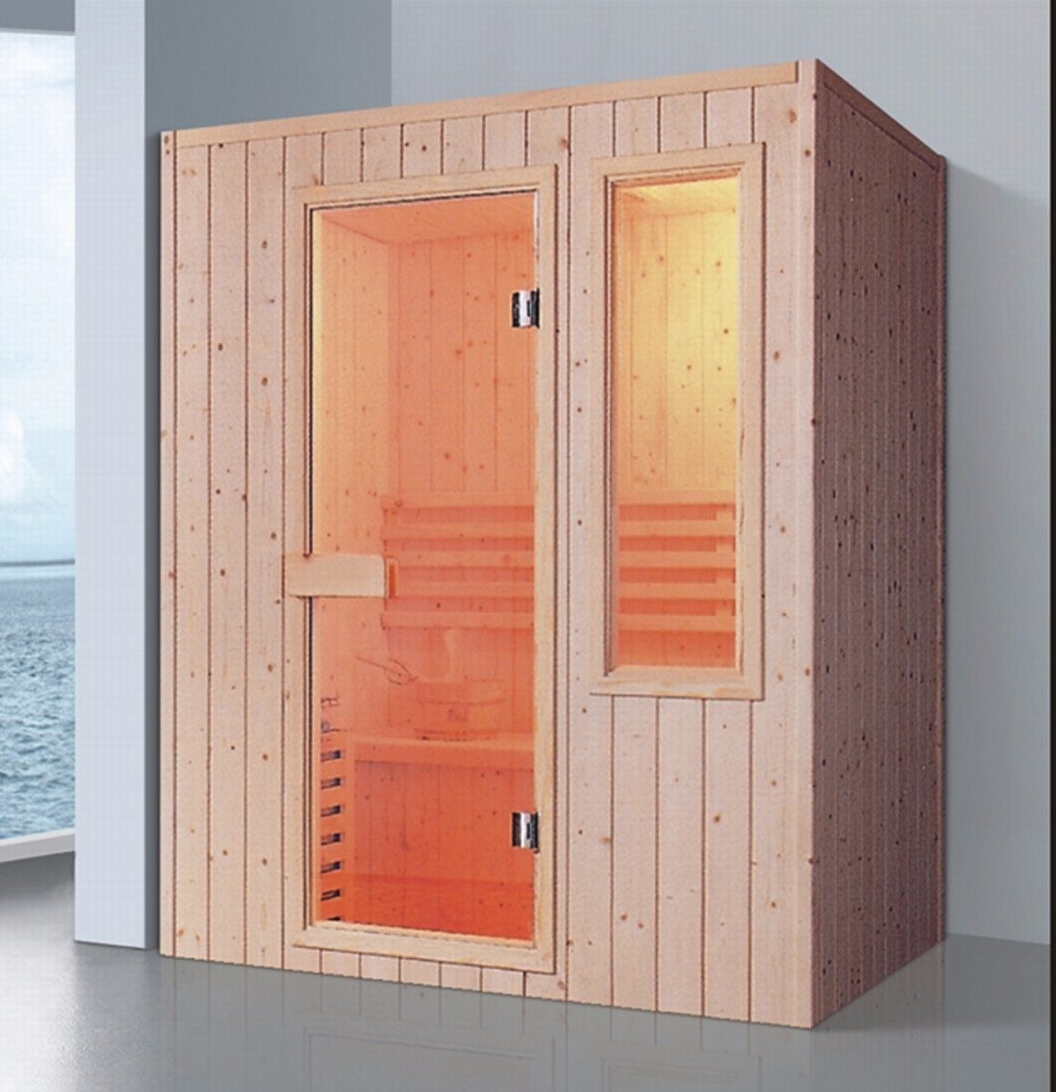 1600mm Solid Wood Sauna for 4 Persons (AT-8629)